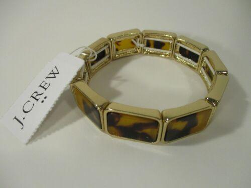 J Crew Tortoise Stretch Bracelet NWT 34.50 Style E7361