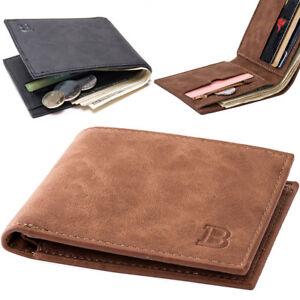 Men-039-s-Leather-Billfold-Slim-Wallet-ID-Credit-Card-Holder-Money-Clip-Purse