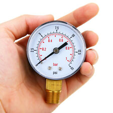 Low Pressure Gauge For Fuel Air Oil Gas 50mm 0 15 Psi 0 1 Bar 14 Bspt Tool