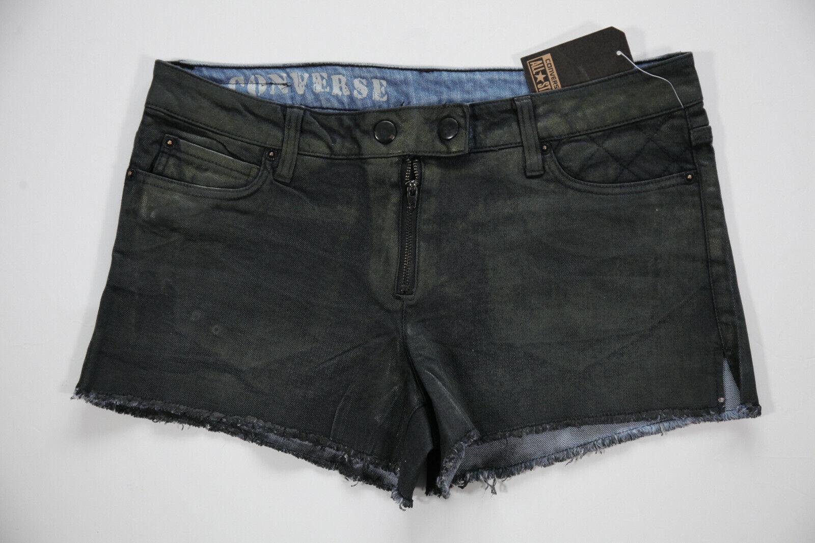 Neu All Star Converse Damen Sommer Denim Jeans Hot Pants Shorts Hose Gr.28 #99
