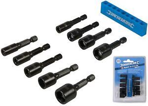 Silverline-Magnetico-Tuerca-Socket-Conjunto-de-controladores-5mm-metrica-de-12mm-Para-Taladro
