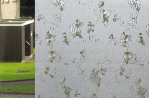 Frosted Etched Glass  Static Decorative Vinyl Privacy Window Film Reusable