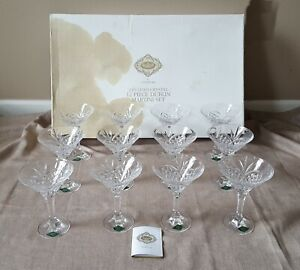 Shannon-Crystal-Godinger-24-lead-12-piece-Dublin-Martini-glasses-set-orig-box