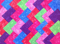 COTTON FABRIC PATCHWORK SQUARES PIECES CHARM PACK 4 & 5 INCH ~ BRIGHT BLENDERS