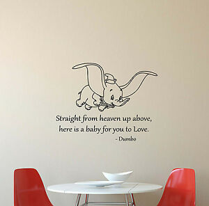 Attractive Image Is Loading Dumbo Disney Wall Decal Quote Vinyl Sticker Poster