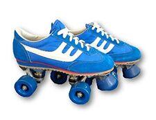 Blue and White Sneaker Vintage Style Roller Skates Mens Size 5 Vintage Retro