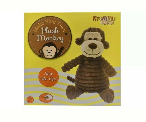 Ages 8+ Make Your Own Plush Monkey Childrens Arts /& Crafts Sewing Kit
