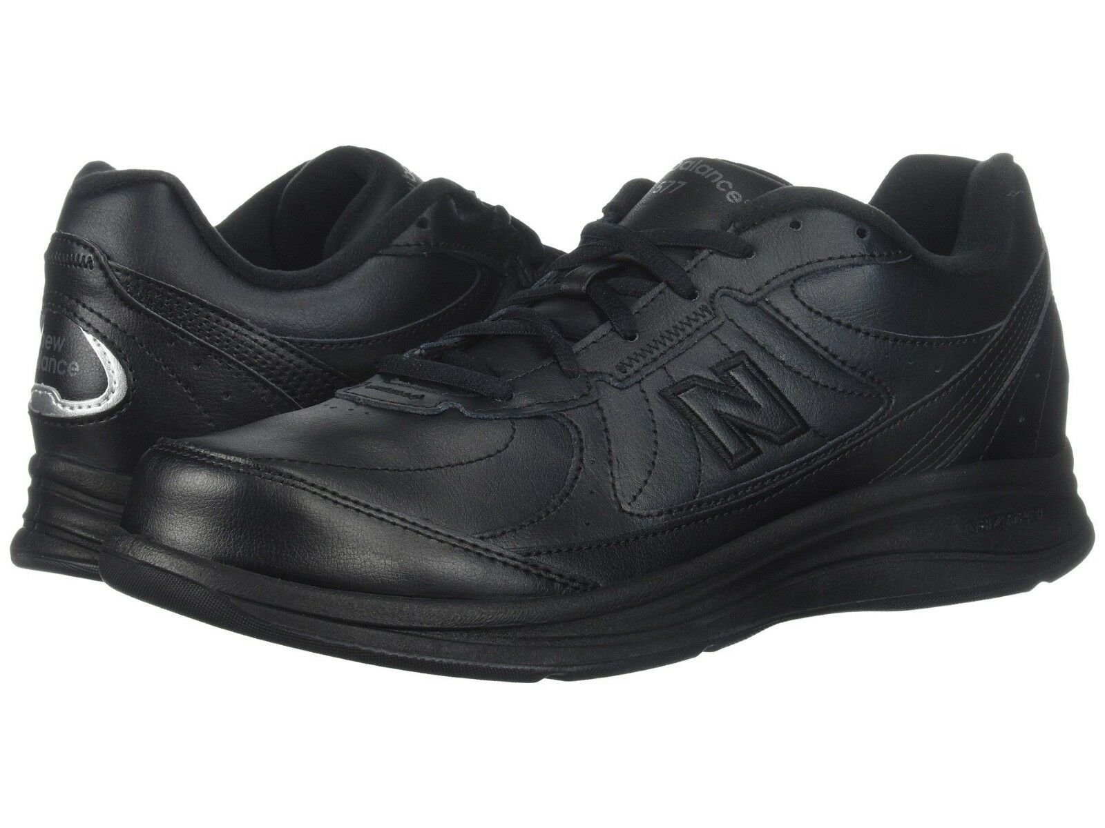 NEW Mens Mens Mens New Balance MW577 Black Leather Lace Up Walking shoes AUTHENTIC IN BOX e8d46c