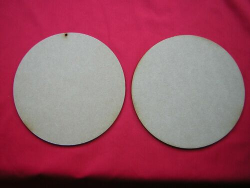 LASER CUT 20cm 200mm  MDF CIRCLE x 2