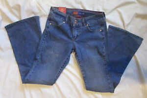 dELiA-s-Corey-Double-Button-Stretch-Womens-Blue-Denim-Jeans-Size-3-4-NWT