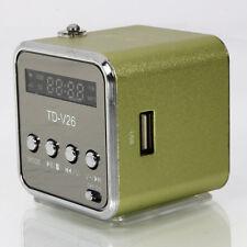 TF Mini USB Speaker Music Player Portable FM Radio Stereo PC Mp3 Green
