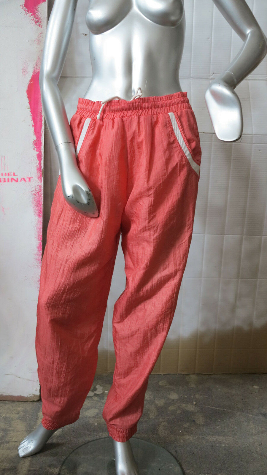 Dunlop fashion señora pantalones de entrenamiento pantalones deportivos 80s True vintage fitness trousers