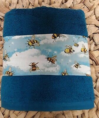 **NEW** Handmade Honey Bees /& Dogwood Flowers Hanging Kitchen Hand Towel #1446