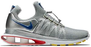 wholesale dealer 4b2a9 48d3e Nike Shox Gravity Metallic Silver Gym Gym Gym bluee-White AR1999-046 MSRP  150