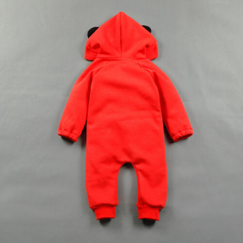 BABY BOY GIRL WINTER WARM ROMPER WITH HAT BABY WOOL THICKEN BABYGROW OUTFIT SET