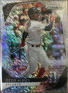 2020 Panini Prizm Baseball Ozzie Albies FOTL Silver Shimmer Prizm 5/7! Braves