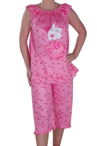 Womens Sleeveless Scoop Neck Pyjamas Set Loungewear Nightwear Sleeping Suit