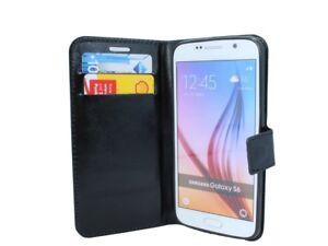 Style-Livre-Telephone-Portable-Housse-Etui-Accessoire-Noir-de-Samsung-Galaxy-S6