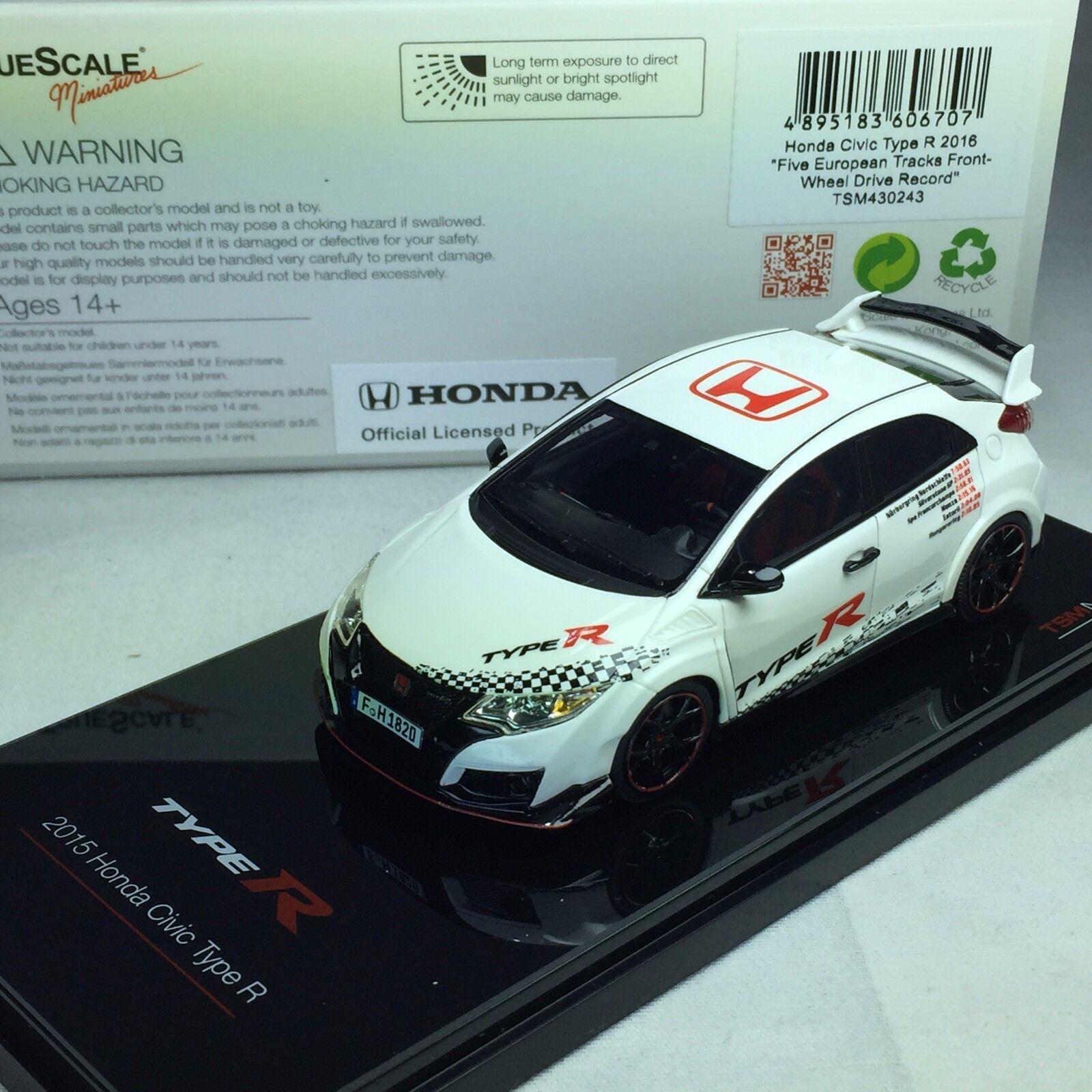 1/43 TrueScale TSM Honda Civic Tipo R FK2 2018 TSM430243