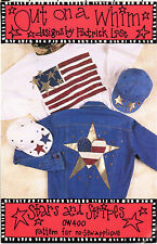"""1994 Indygo Junction NO-Sew Applique Craft Pattern OW400 """"Stars and Stripes"""""""