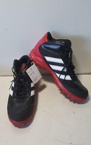 5ef48bb1b633 NEW Adidas AS SMU Turf Hog LX Mid NCA Black/Red w/ White Football ...