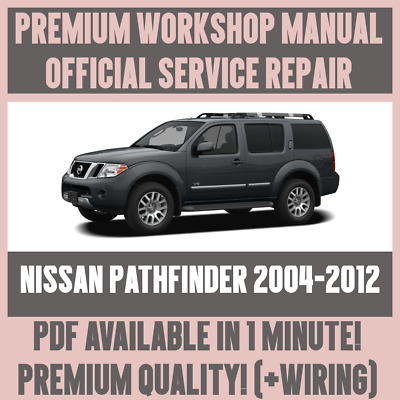 Workshop Manual Service Repair Guide For Nissan Pathfinder 2004 2012 Wiring Ebay