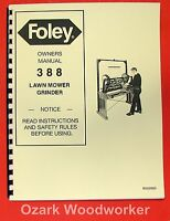 Foley 388 Lawn Mower Blade Grinder Operator's & Parts Manual 0936