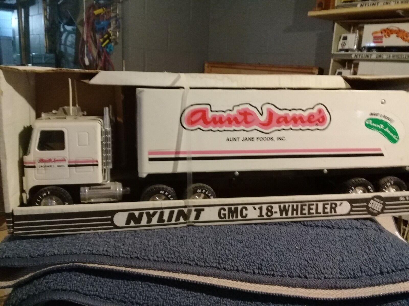 Vintage nylint semi tractor trailer pressed steel aunt jane's food