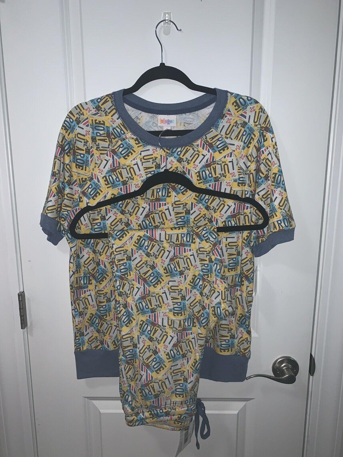 Lularoe S pequeño Jane S Jax  Set lularoe Logotipo Azul Amarillo Americana  barato y de alta calidad