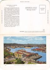 VICTORIA BRITISH COLUMBIA CANADA FOLKARD POSTCARD 1940s UNIQUE LETTER WRITING