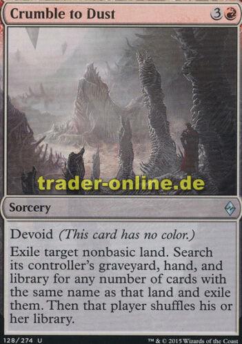 Battle for Zendikar Magic Zu Staub zerbröckeln Crumble to Dust