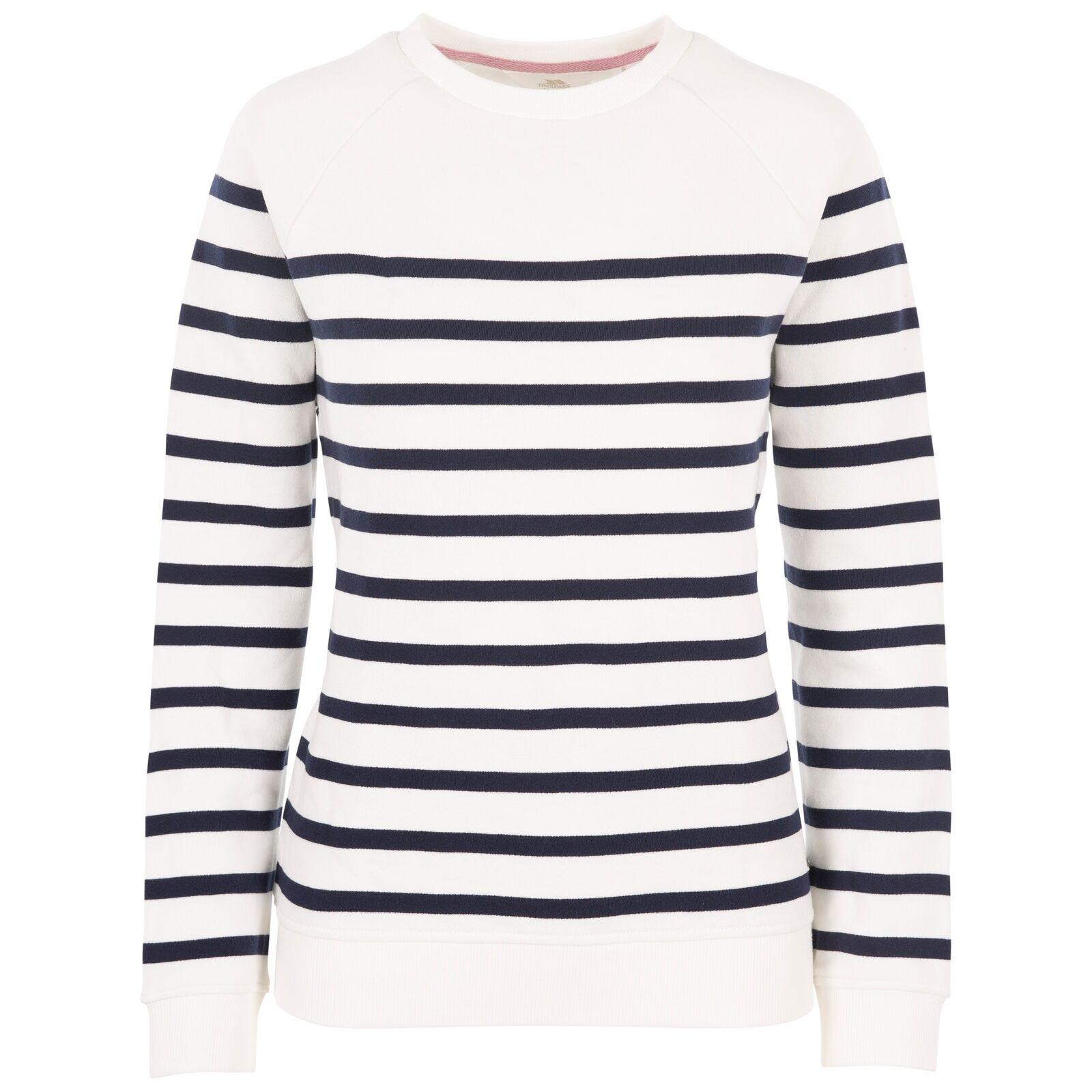 Trespass Womens Sweatshirt Casual Yarn Dyed Striped Chloe