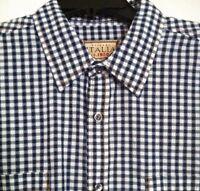 Men's Vintage Italia Multi-color Checked Shirt Xxl 2xl L/s Cotton $98
