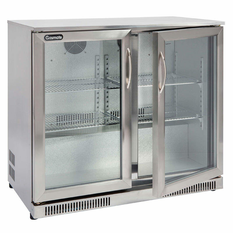 Gasmate 228ltr 2 Glass Door Bar Fridge Ebay