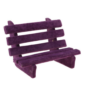 Excellent Details About 1 6 Dollhouse Miniature Park Bench Furniture Toys For Fairy Garden Purple Camellatalisay Diy Chair Ideas Camellatalisaycom