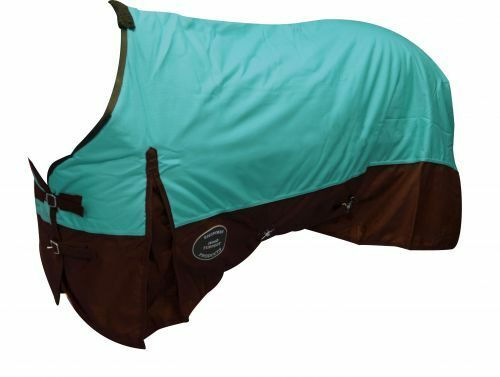 TEAL 72  1200D Winter WATERPROOF and BREATHABLE Turnout BLANKET Horse Size
