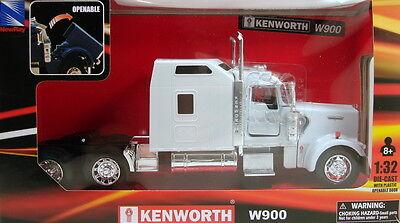 NewRay 1:32 scale Kenworth W900 diecast model trailer truck Cab White N201