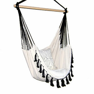 image is loading deluxe hanging hammock chair relax in luxury provincial  deluxe hanging hammock chair relax in luxury provincial cream with      rh   ebay