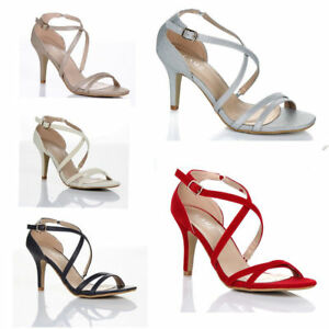WOMENS-LADIES-MID-HIGH-HEEL-STRAPPY-CROSSOVER-WEDDING-SANDALS-SHOES-SIZE-3-8