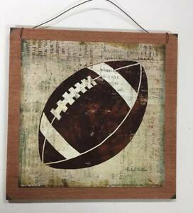 Details About Football Boys Sports Bedroom Wooden Wall Art Sign Childrens Room Decor