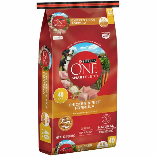 Purina ONE SmartBlend Natural Adult Chicken Rice Dry Dog Food 40 Lb. Bag  - $62.41