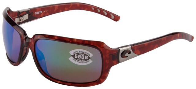 f3280dadba Costa Del Mar Isabela Sunglasses IB-10-OGMGLP 580G Tortoise Green Polarized  Lens
