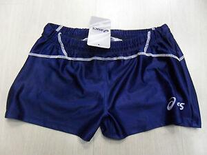 0554-Fipav-TG-L-ASICS-Pantalones-Cortos-Carrera-Mujer-Voleibol-Italia-Shorts