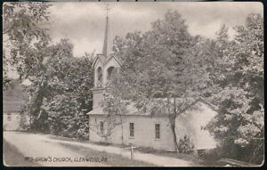 GLENWOOD-PA-Mrs-Grow-039-s-Church-Vintage-B-amp-W-Postcard-Early-Old-Pennsylvania-PC