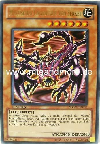 - SDMA Yu-Gi-Oh 1x Mystisches Ungeheuer von Serket