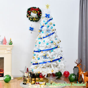 7Ft-Artificial-PVC-Christmas-Tree-W-Stand-Holiday-Season-Home-Outdoor-White