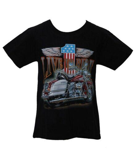 "Enfants Motard T-shirt /""LIVE TO RIDE/"" EASY RIDER Kids"