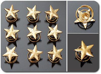 Set 10 Curlies Haarspiralen Sterne Spiralhaar Braut Hochzeit Stern