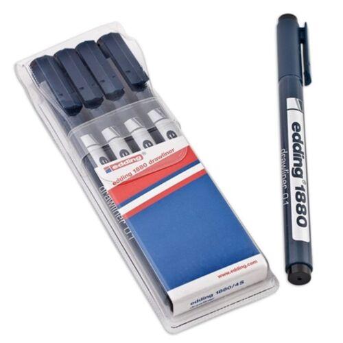 Edding 1880 Pigment Liner Fineliner Zeichnen Stifte 0.0.5mm To 0.7mm