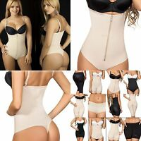 Thong Body Shaper Fajas Reductoras Colombianas Zipper Spaghetti Straps Moldeate